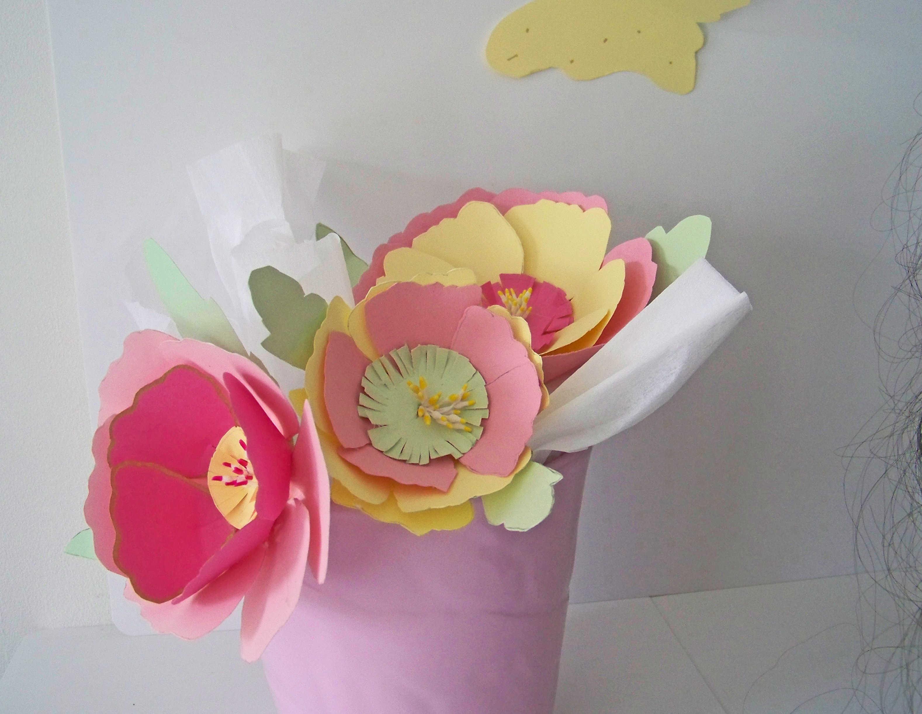Fleurs en papier pour mariage champ tre - Fleur commencant par t ...