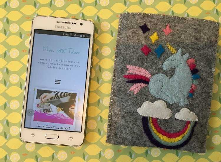 Medium pochette licorne telephone