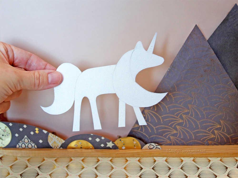 Medium diy cadre licorne papier decoupe 8