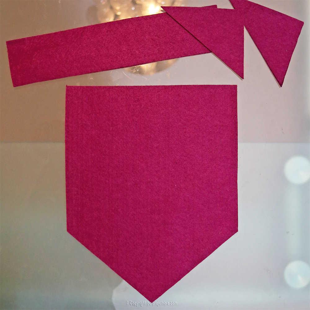 Medium banniere feutrine fleurs papier pompons 1