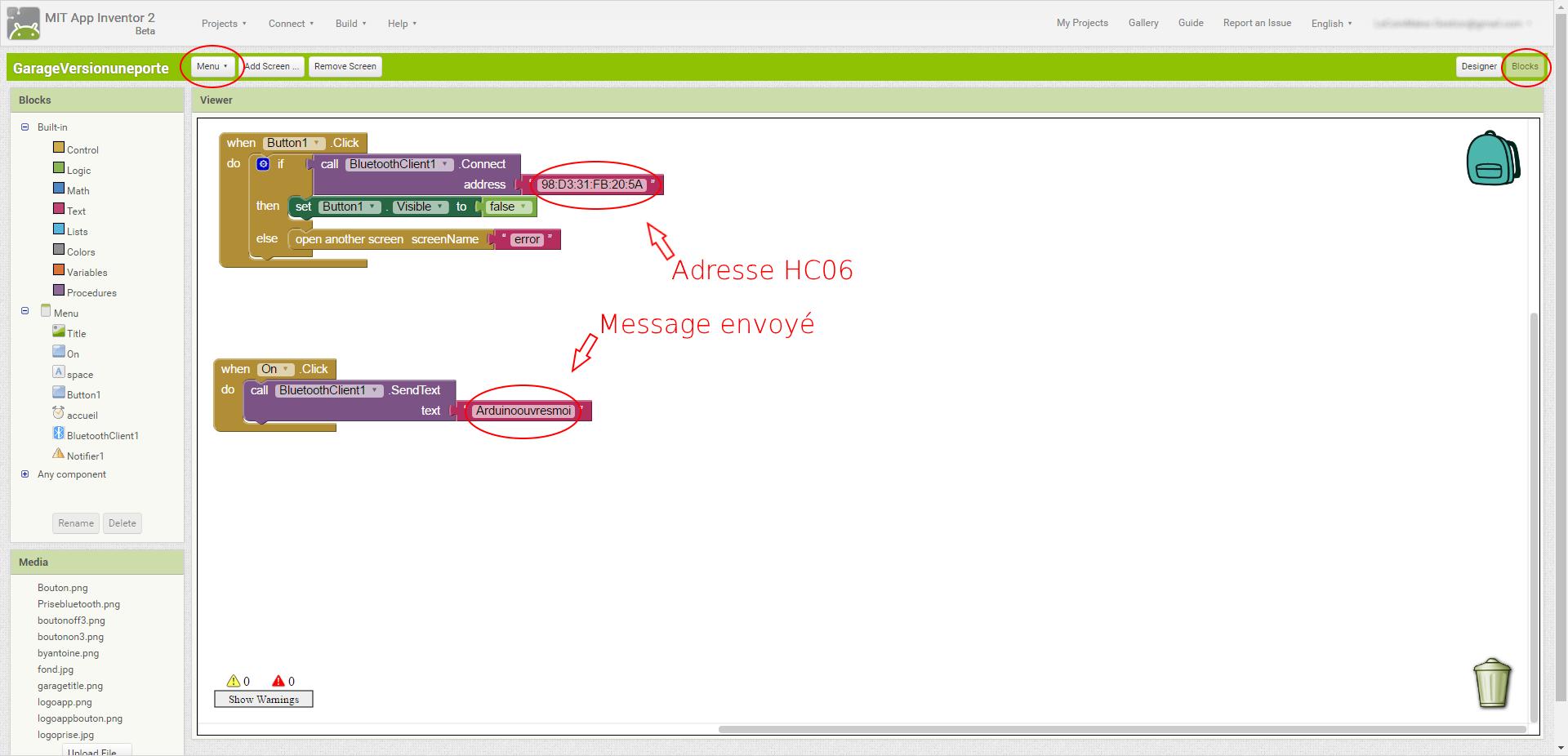 Medium modif code app