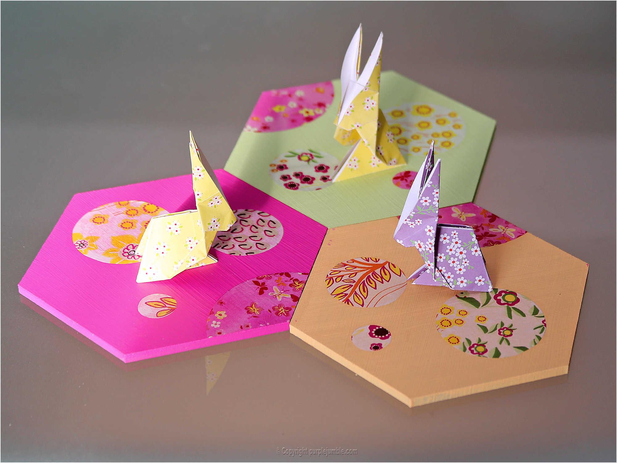 Medium diy lapin origami 26