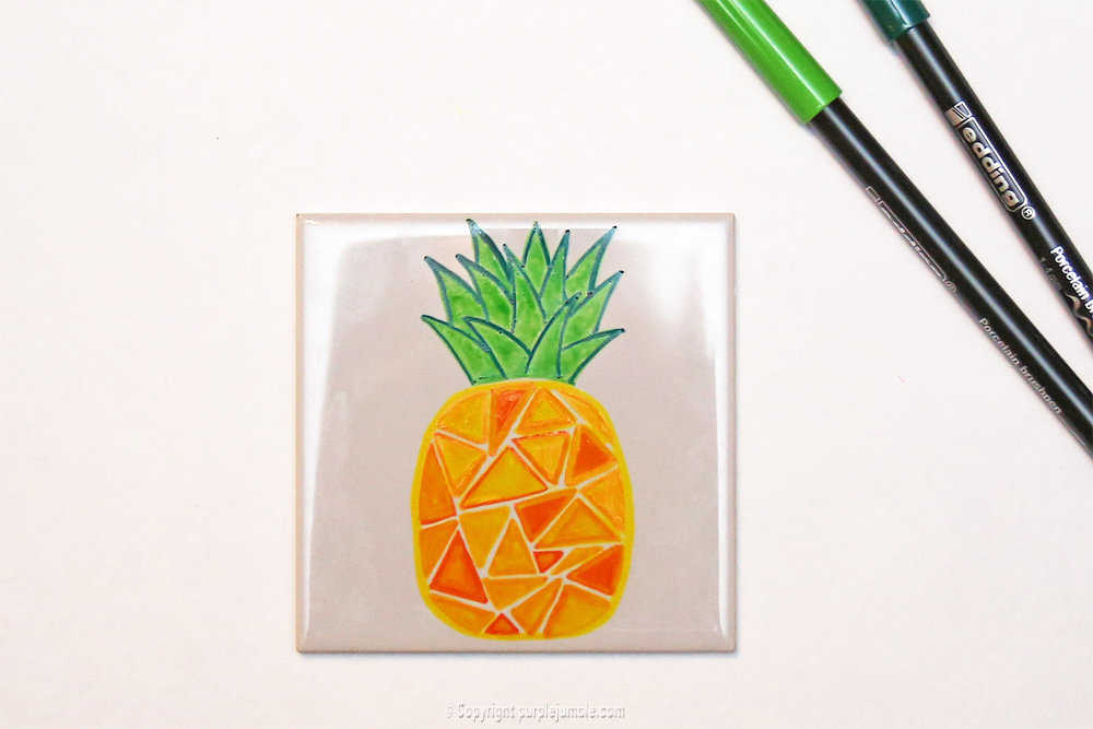 Medium diy ceramique fruits geometriques 7