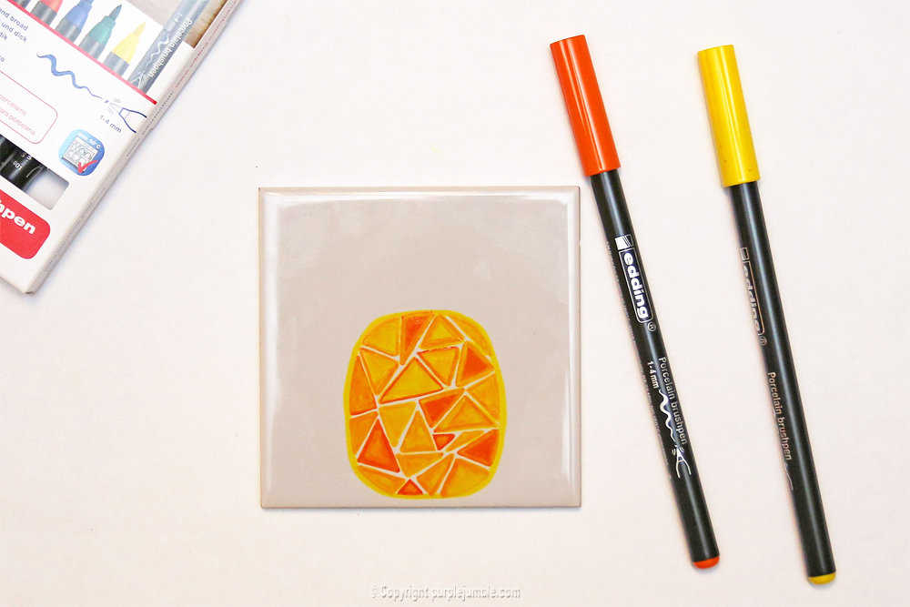 Medium diy ceramique fruits geometriques 6