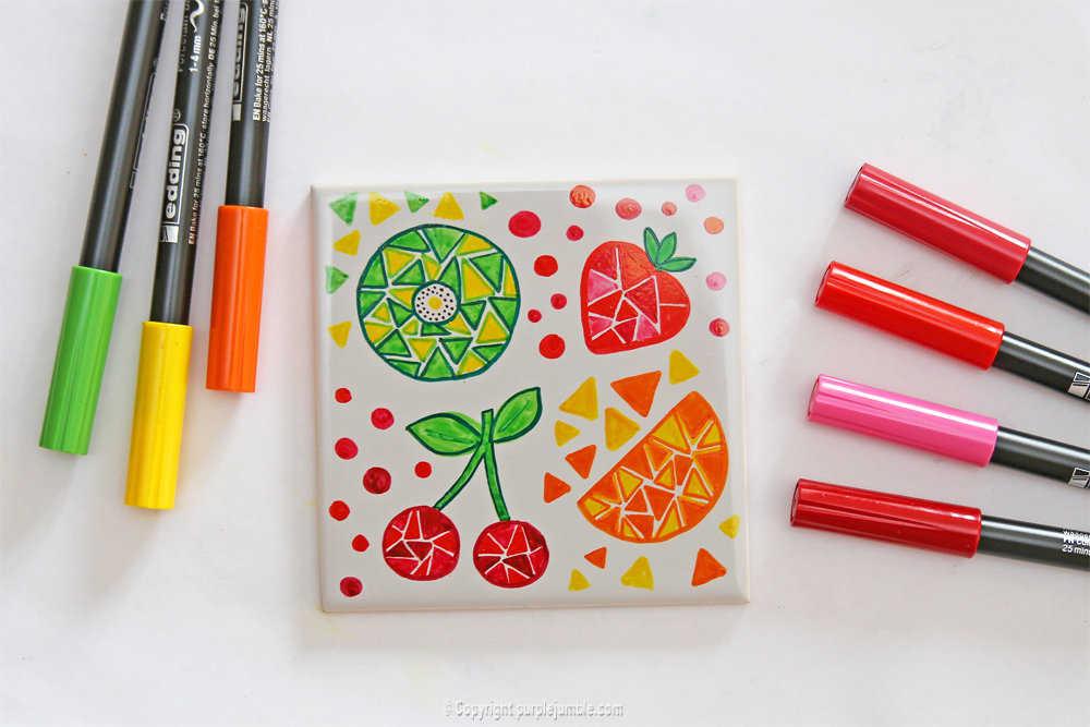 Medium diy ceramique fruits geometriques 13