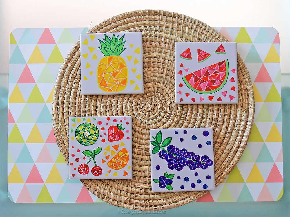 Medium diy ceramique fruits geometriques 14