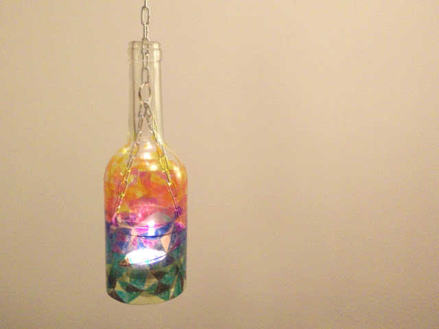Medium recycled glass lanterns 17