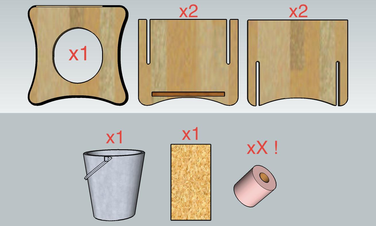 tutoriel diy des toilettes s ches de type tlb d montables. Black Bedroom Furniture Sets. Home Design Ideas