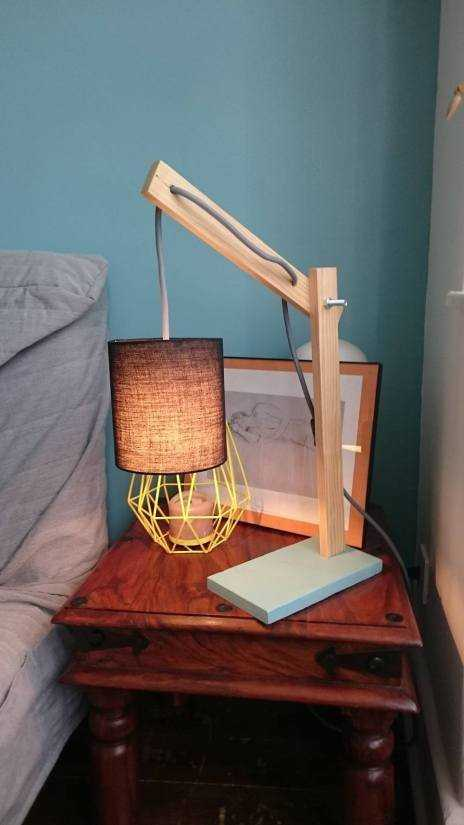 tutoriel diy lampe articul e en bois. Black Bedroom Furniture Sets. Home Design Ideas