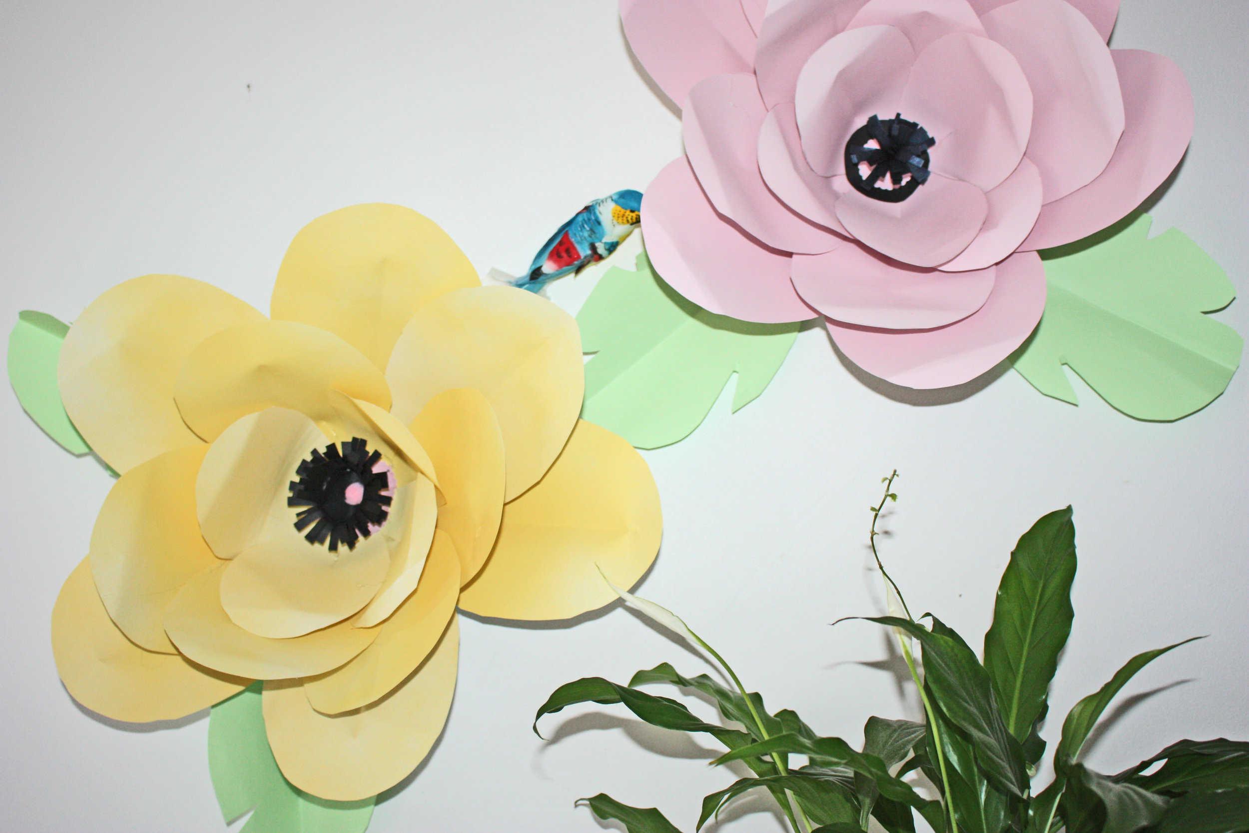 fabriquer des fleurs en papier g antes. Black Bedroom Furniture Sets. Home Design Ideas