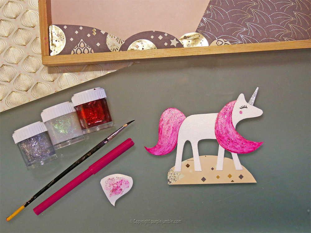 Medium diy cadre licorne papier decoupe 9