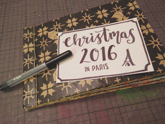 Medium christmas photo album made from recycled wrapping paper 15