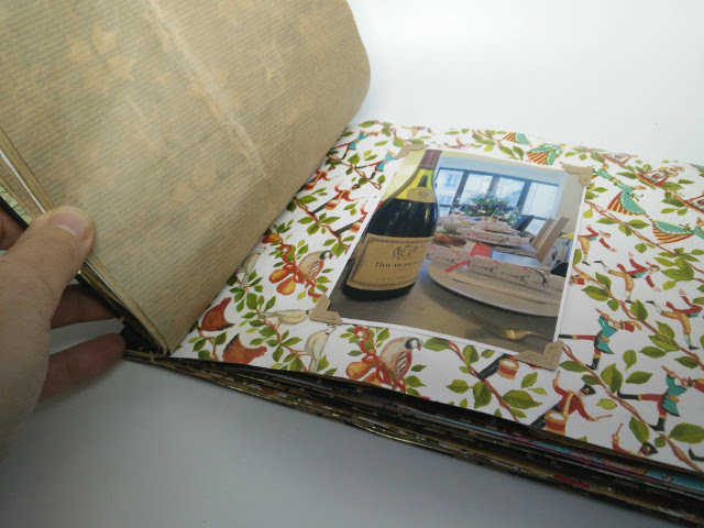 Medium christmas photo album made from recycled wrapping paper 19