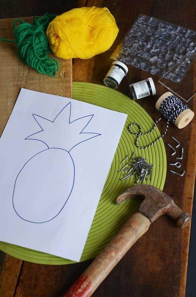 Medium diy porte cles mural ananas creamalice1