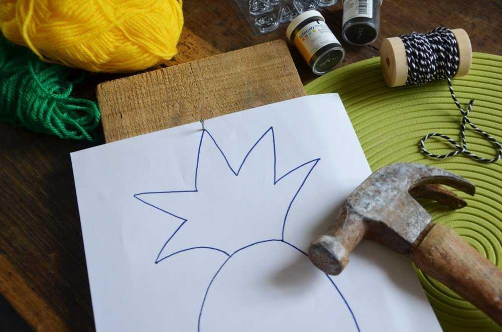 Medium diy porte cles mural ananas creamalice2