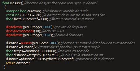 Medium code hc sr04