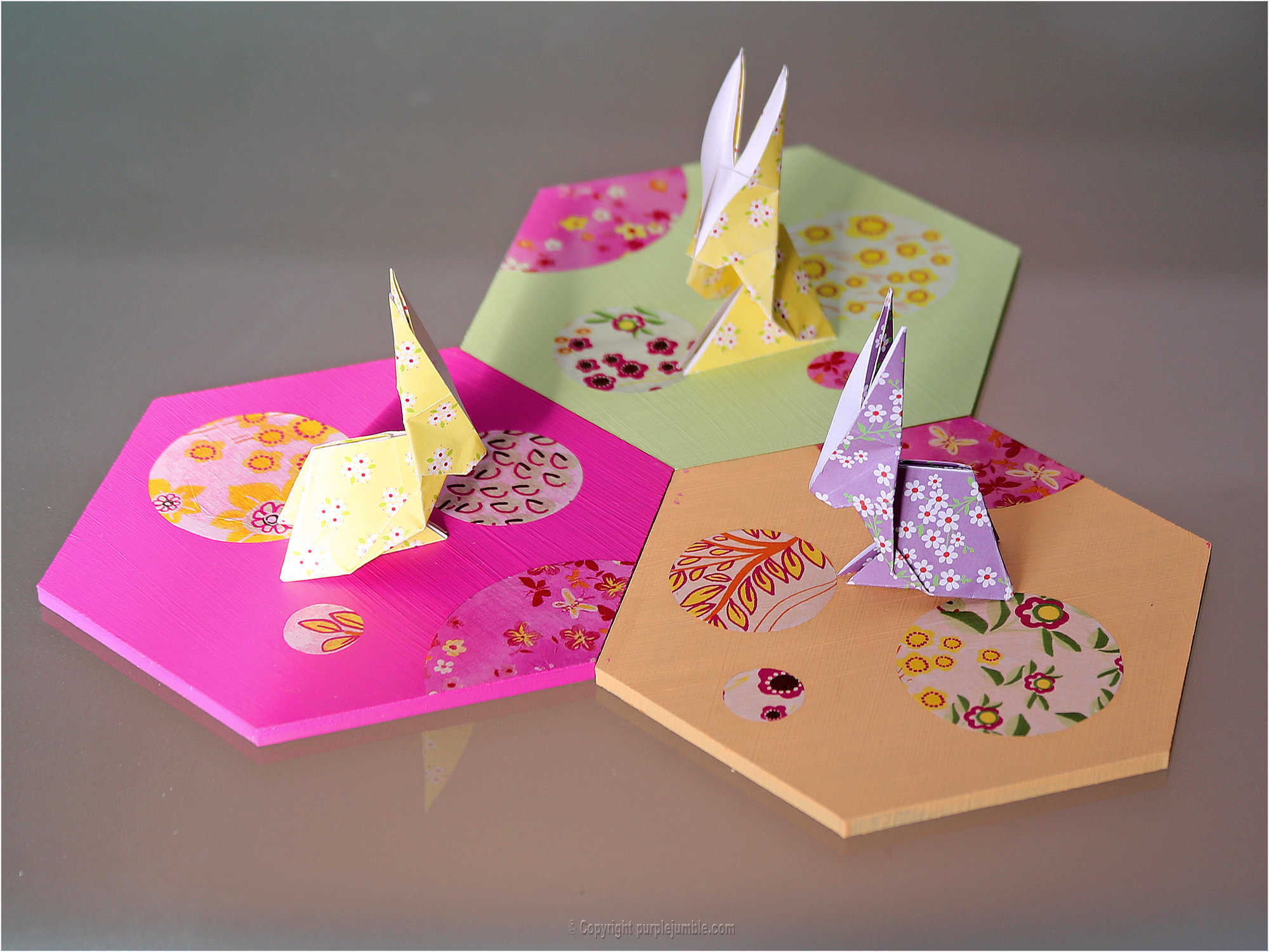 Medium diy lapin origami 26