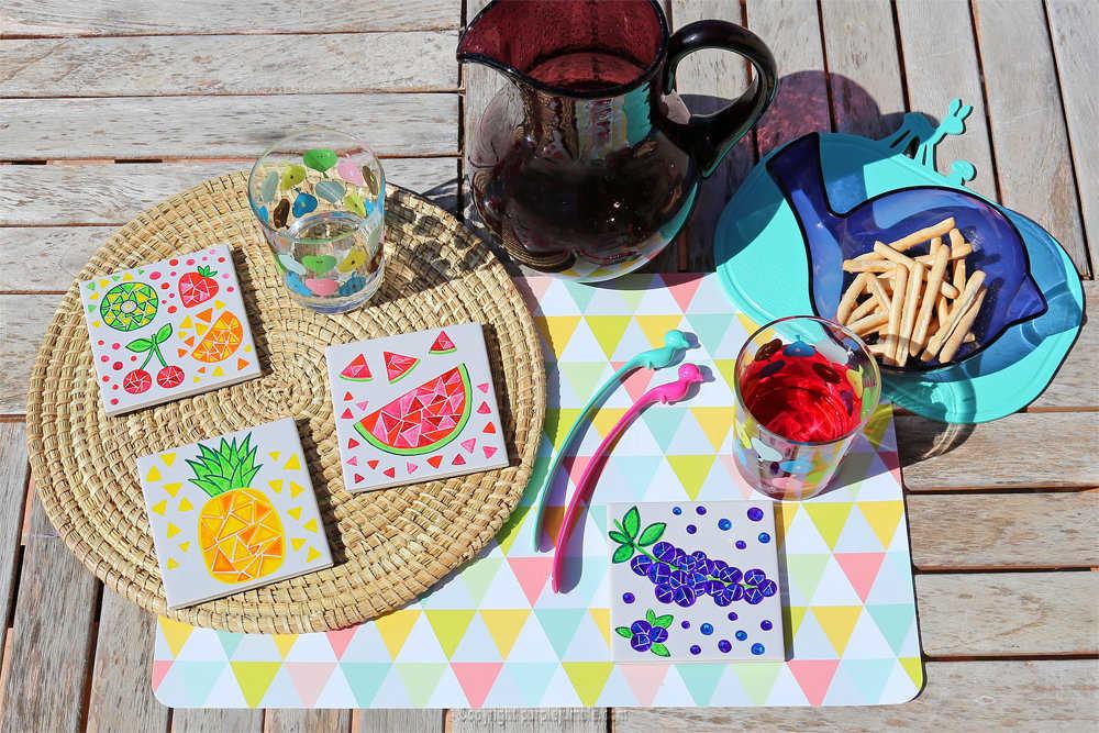 Medium diy ceramique fruits geometriques 20