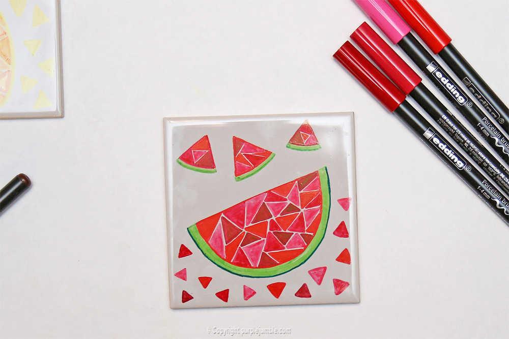 Medium diy ceramique fruits geometriques 5