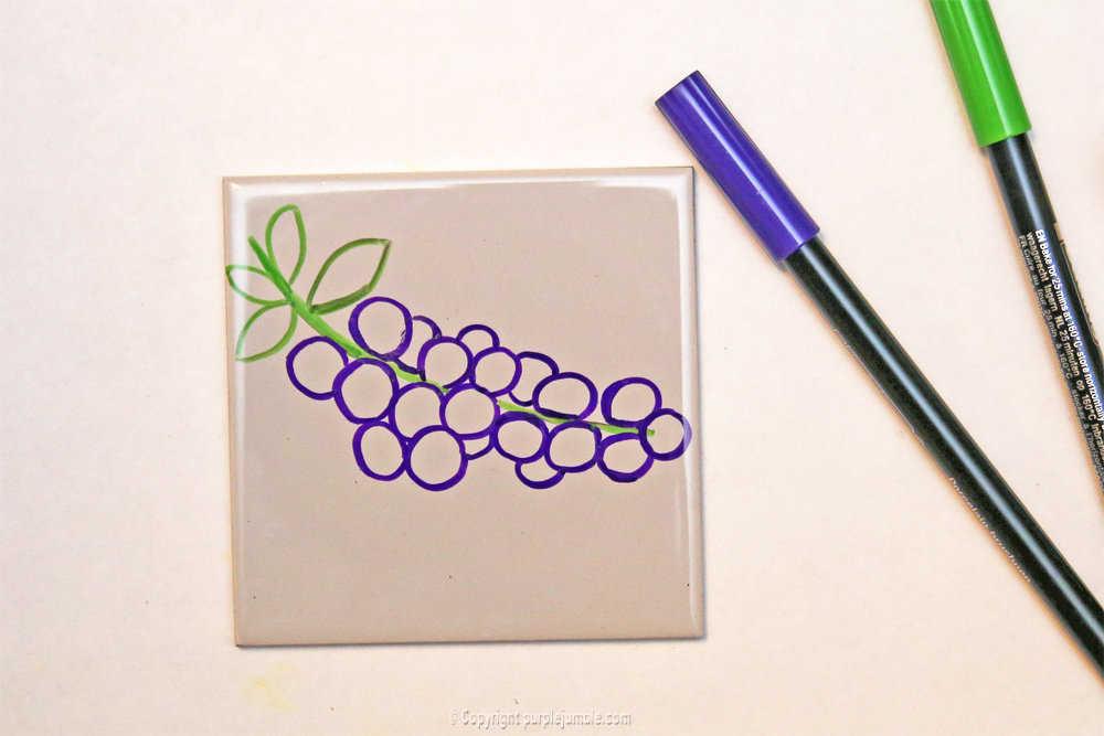 Medium diy ceramique fruits geometriques 8