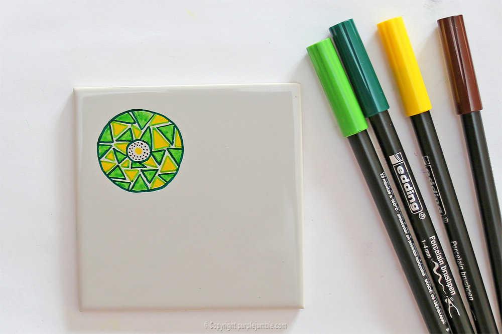 Medium diy ceramique fruits geometriques 11