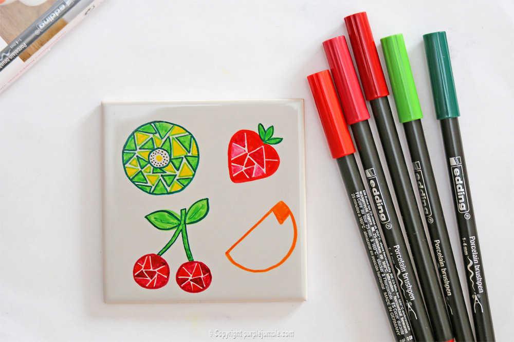 Medium diy ceramique fruits geometriques 12