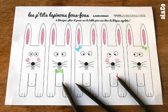 Medium 01 lapins coloriage