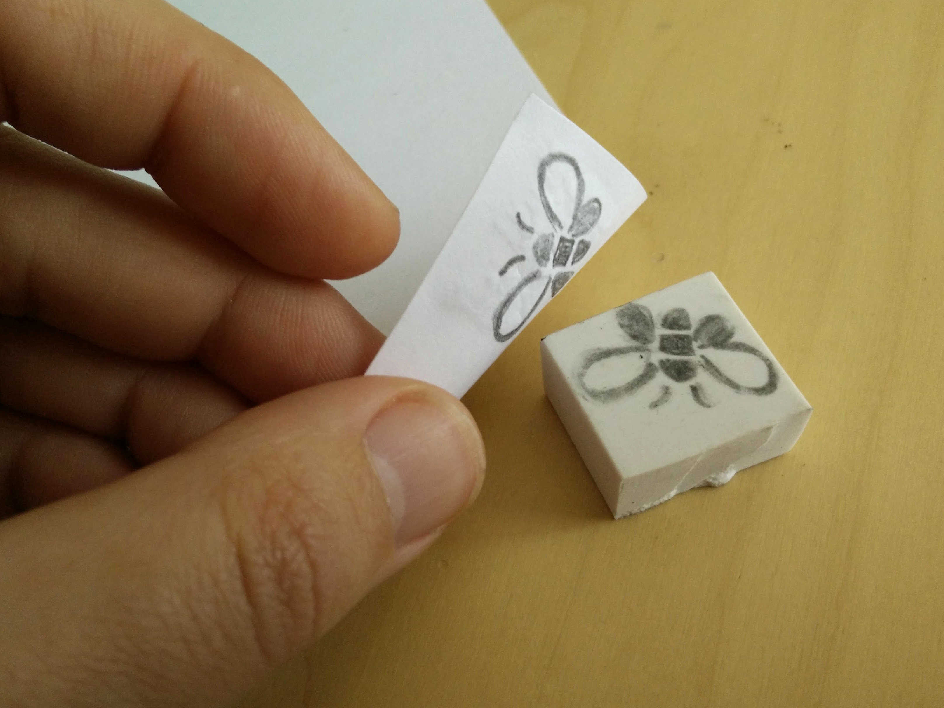 Medium hand carved rubber stamps 17