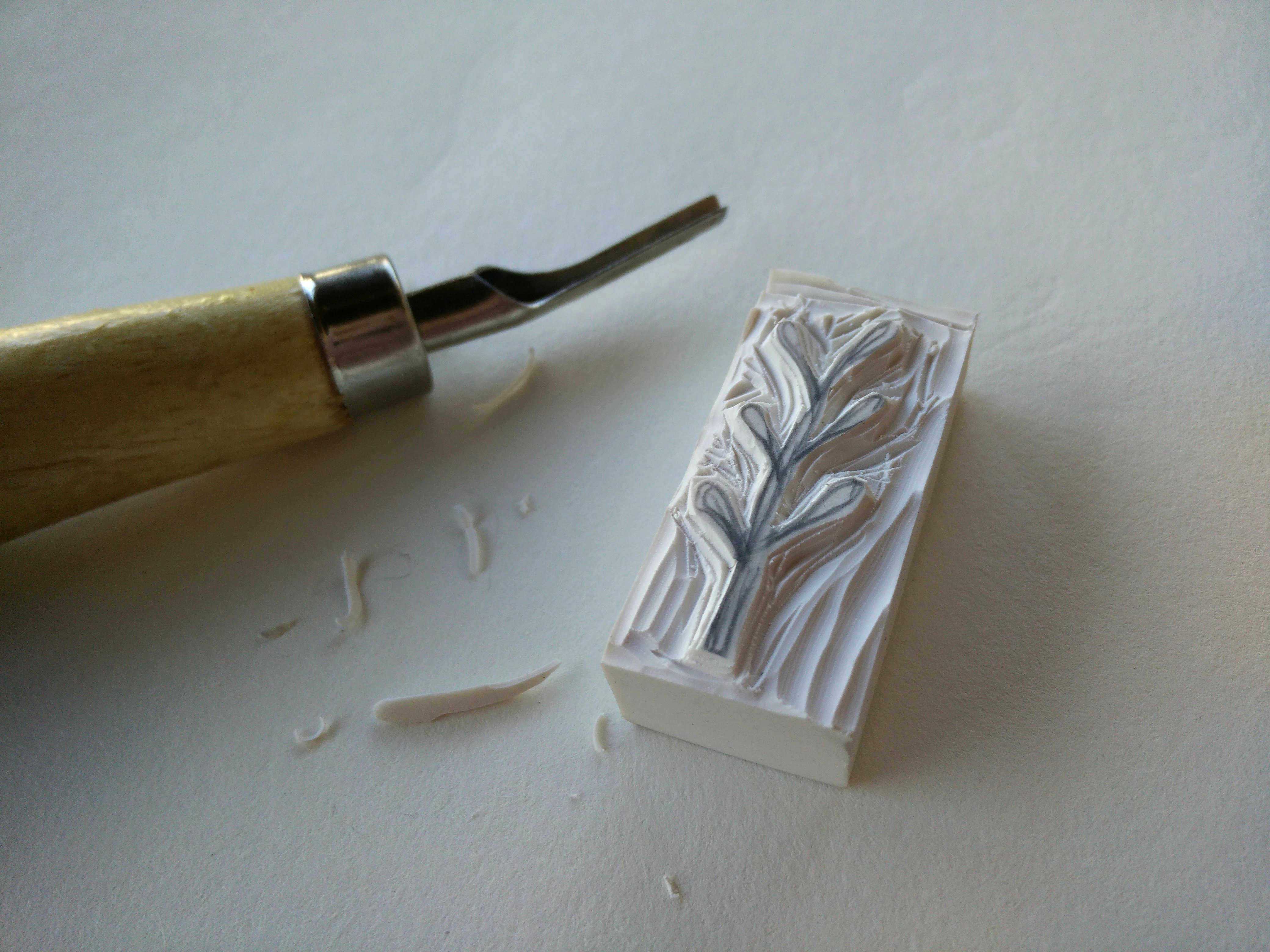 Medium hand carved rubber stamps 05