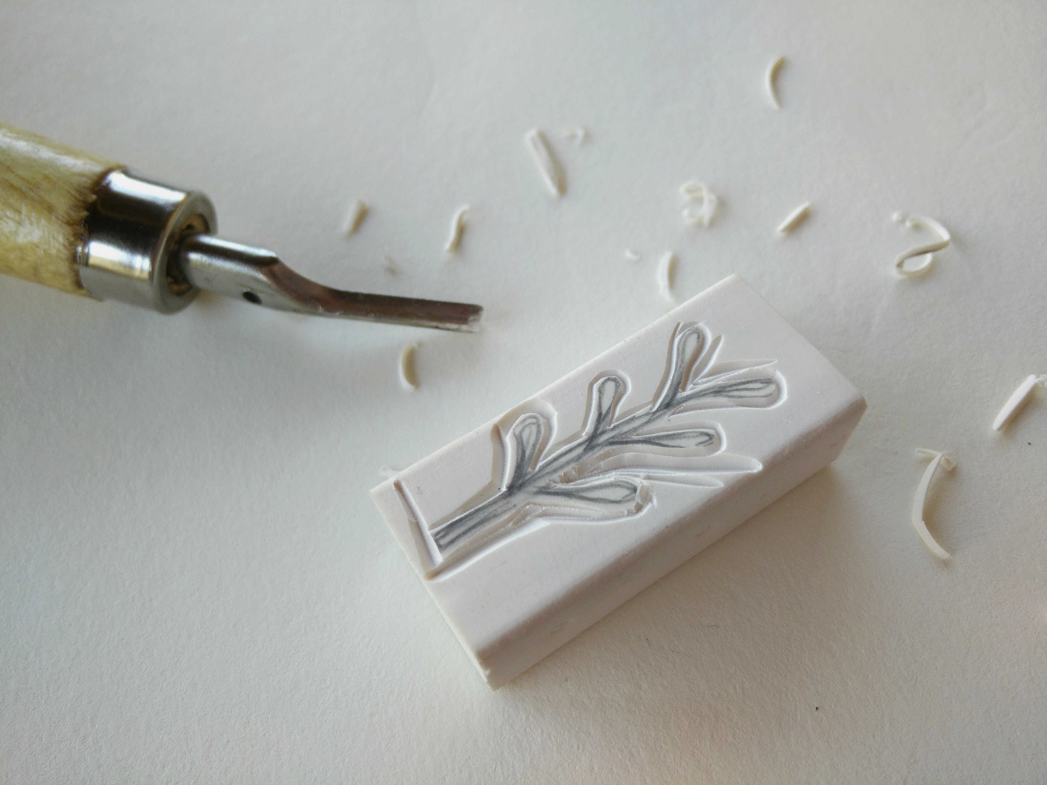 Medium hand carved rubber stamps 04