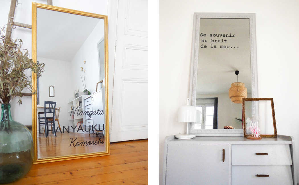tutoriel diy diy crire sur un miroir. Black Bedroom Furniture Sets. Home Design Ideas