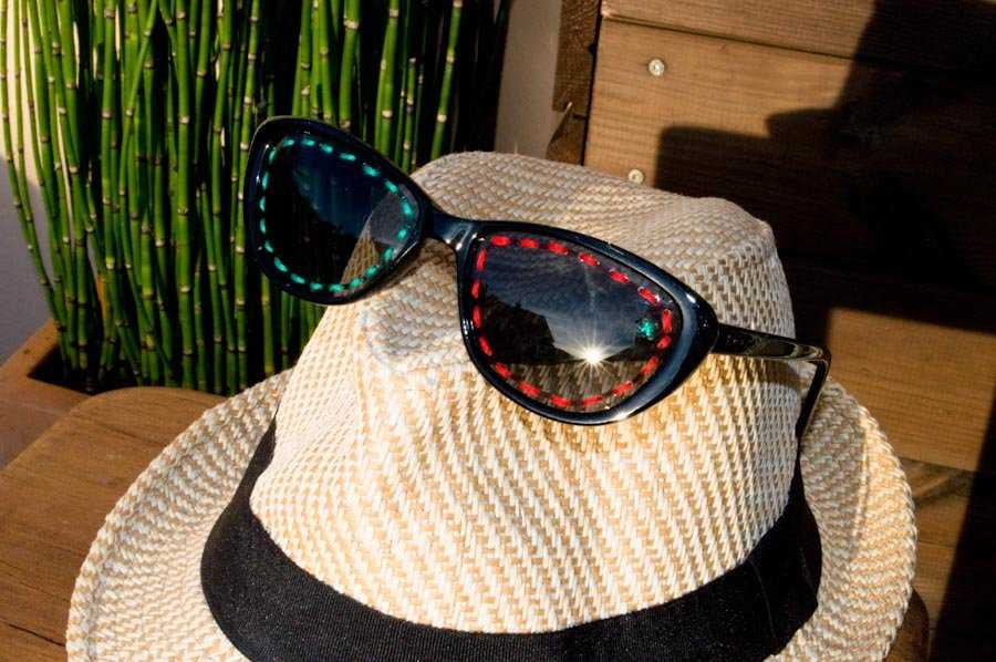 Medium diy broderie lunettes de soleil