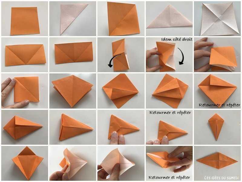 Medium base de oiseau origami
