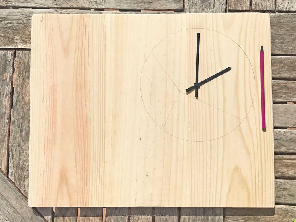 Medium diy etagere bois horloge 2