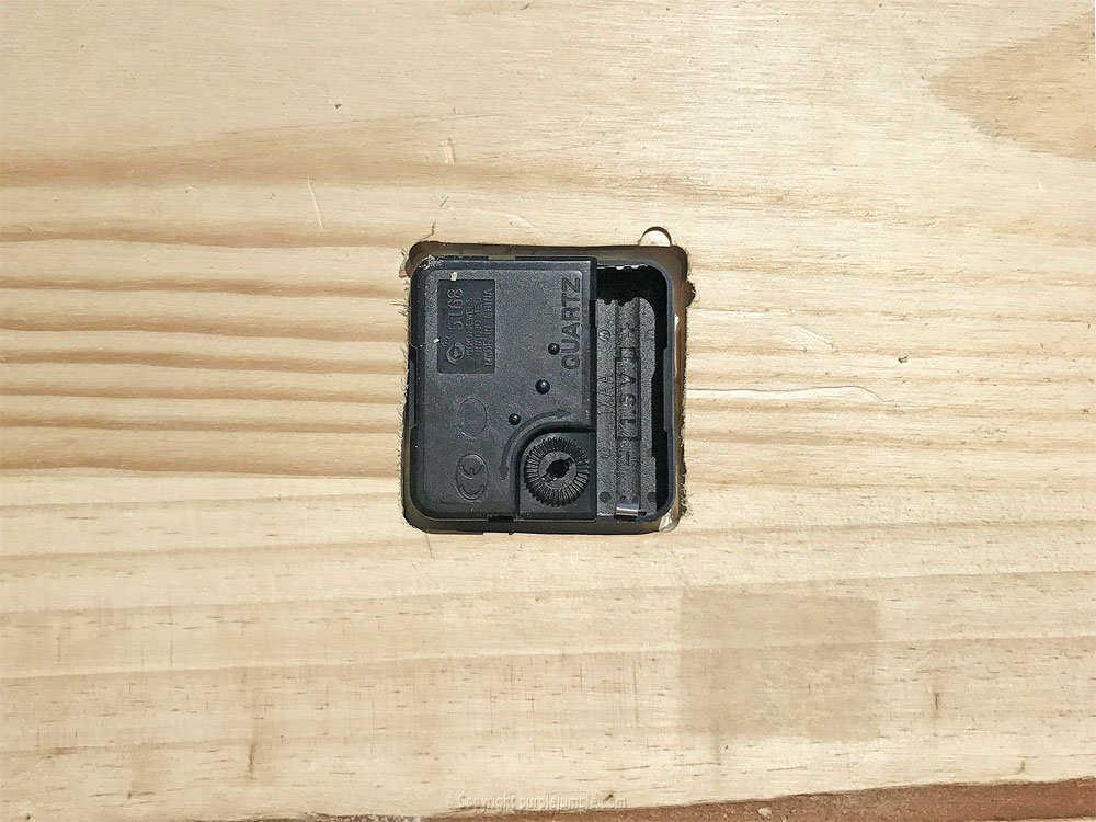 Medium diy etagere bois horloge 17