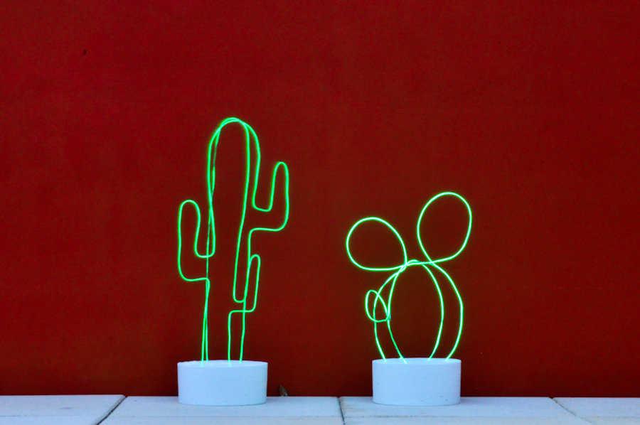 Medium diy cactus lumineux neon