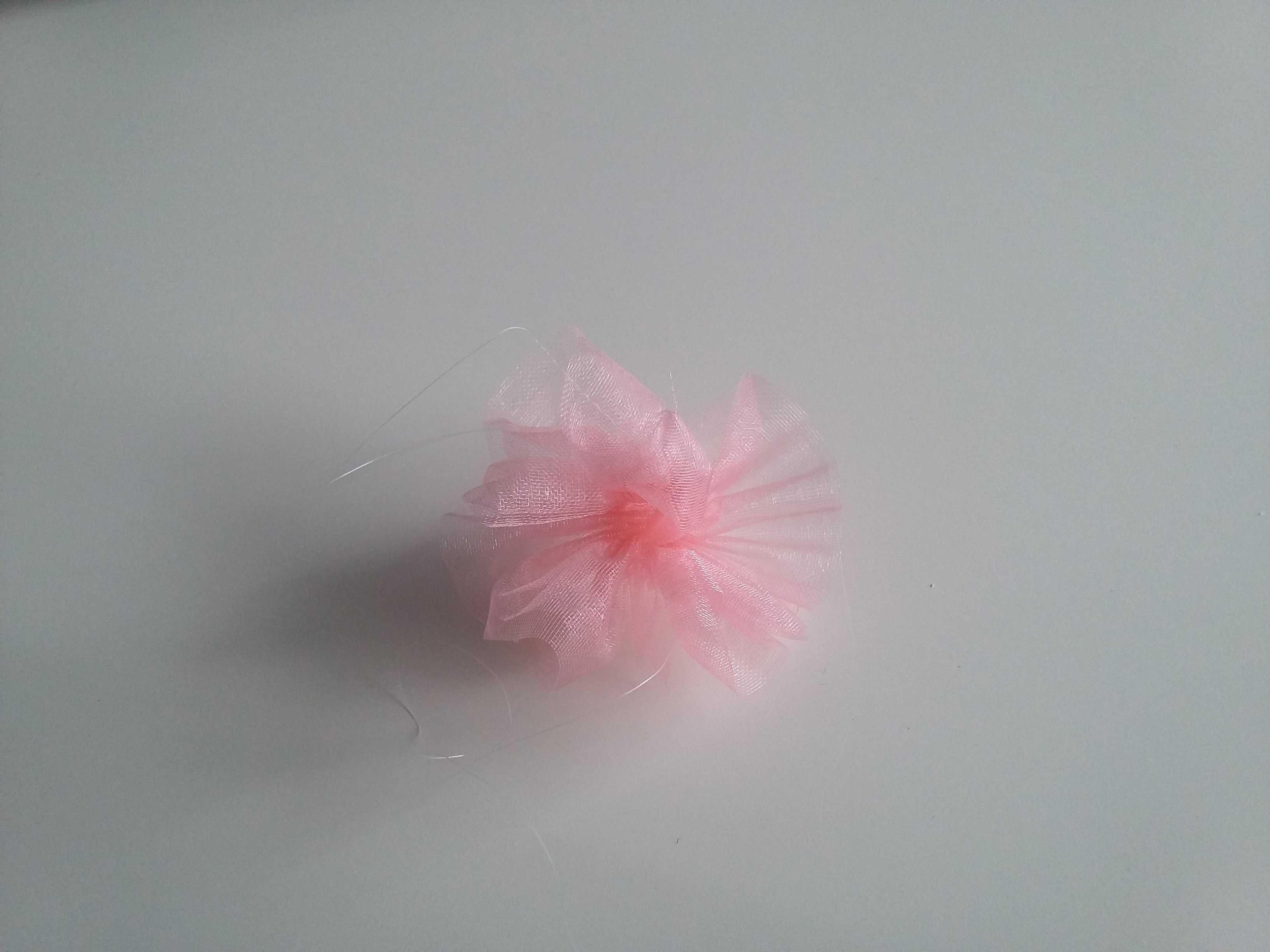 Medium bullesdeplume bandeau floral organza fleur ok